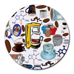 Just Bring Me Coffee 8  Mouse Pad (Round)