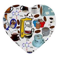Just Bring Me Coffee Heart Ornament