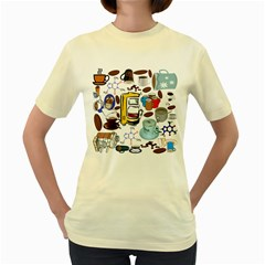 Just Bring Me Coffee Women s T-shirt (Yellow)