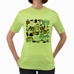 Just Bring Me Coffee Women s T-shirt (Green)