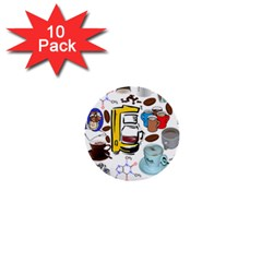 Just Bring Me Coffee 1  Mini Button (10 pack)
