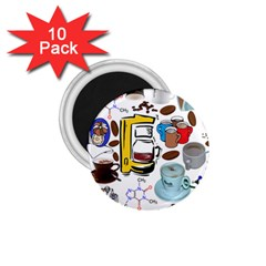 Just Bring Me Coffee 1 75  Button Magnet (10 Pack)