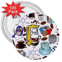 Just Bring Me Coffee 3  Button (100 pack)