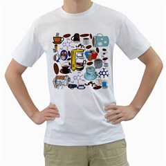 Just Bring Me Coffee Men s Two Sided T Shirt (white)