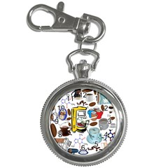 Just Bring Me Coffee Key Chain Watch