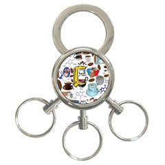 Just Bring Me Coffee 3 Ring Key Chain