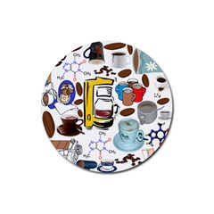 Just Bring Me Coffee Drink Coaster (Round)