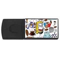Just Bring Me Coffee 1GB USB Flash Drive (Rectangle)