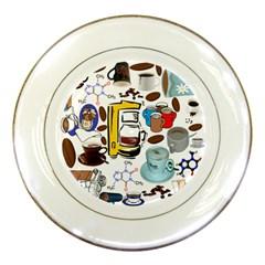 Just Bring Me Coffee Porcelain Display Plate