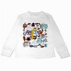 Just Bring Me Coffee Kids Long Sleeve T Shirt