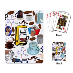 Just Bring Me Coffee Playing Cards Single Design