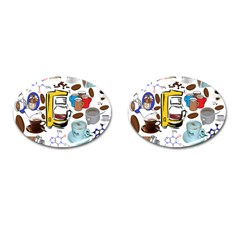 Just Bring Me Coffee Cufflinks (oval)