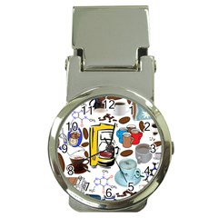 Just Bring Me Coffee Money Clip with Watch