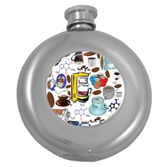 Just Bring Me Coffee Hip Flask (round)