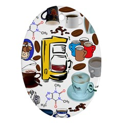 Just Bring Me Coffee Oval Ornament (two Sides)
