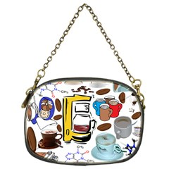 Just Bring Me Coffee Chain Purse (One Side)