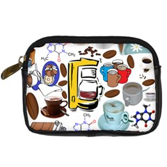 Just Bring Me Coffee Digital Camera Leather Case