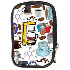 Just Bring Me Coffee Compact Camera Leather Case