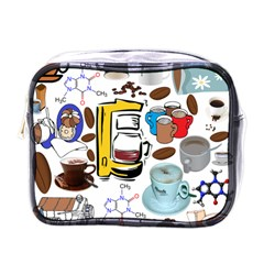 Just Bring Me Coffee Mini Travel Toiletry Bag (One Side)