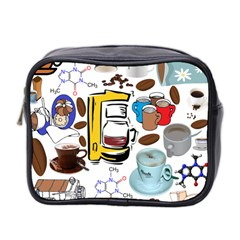 Just Bring Me Coffee Mini Travel Toiletry Bag (Two Sides)
