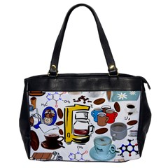 Just Bring Me Coffee Oversize Office Handbag (One Side)