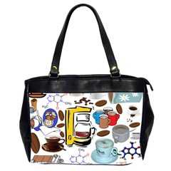 Just Bring Me Coffee Oversize Office Handbag (Two Sides)