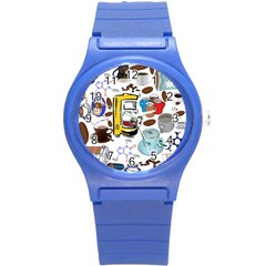 Just Bring Me Coffee Plastic Sport Watch (Small)