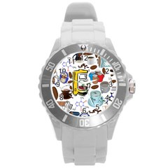 Just Bring Me Coffee Plastic Sport Watch (Large)
