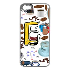 Just Bring Me Coffee Apple Iphone 5 Case (silver)