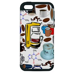 Just Bring Me Coffee Apple iPhone 5 Hardshell Case (PC+Silicone)