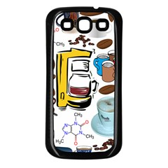 Just Bring Me Coffee Samsung Galaxy S3 Back Case (Black)