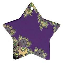 Purple Symbolic Fractal Star Ornament