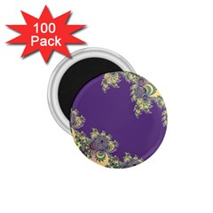 Purple Symbolic Fractal 1.75  Button Magnet (100 pack)