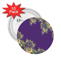 Purple Symbolic Fractal 2.25  Button (10 pack)