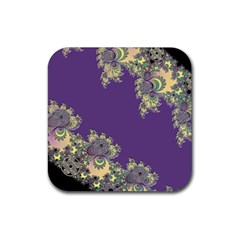 Purple Symbolic Fractal Drink Coaster (square)