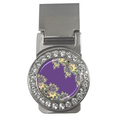 Purple Symbolic Fractal Money Clip (CZ)