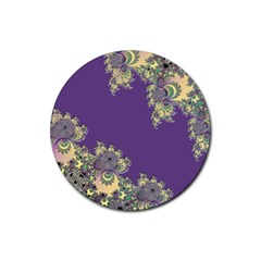 Purple Symbolic Fractal Drink Coasters 4 Pack (round)