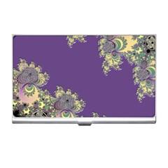 Purple Symbolic Fractal Business Card Holder