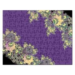 Purple Symbolic Fractal Jigsaw Puzzle (Rectangle)