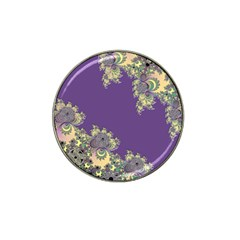 Purple Symbolic Fractal Golf Ball Marker (for Hat Clip)
