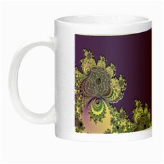 Purple Symbolic Fractal Glow In The Dark Mug