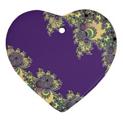 Purple Symbolic Fractal Heart Ornament (Two Sides)