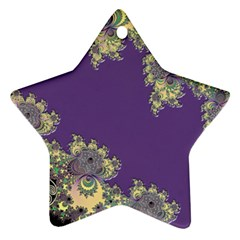 Purple Symbolic Fractal Star Ornament (Two Sides)