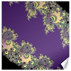 Purple Symbolic Fractal Canvas 12  x 12  (Unframed)