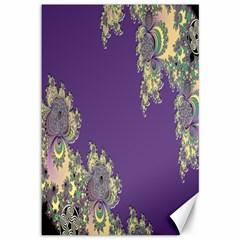 Purple Symbolic Fractal Canvas 12  x 18  (Unframed)