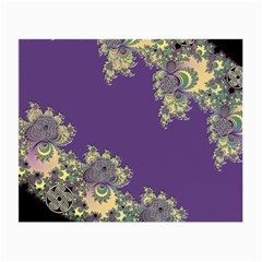Purple Symbolic Fractal Glasses Cloth (Small, Two Sided)