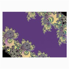 Purple Symbolic Fractal Glasses Cloth (large, Two Sided)