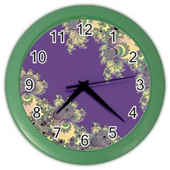 Purple Symbolic Fractal Wall Clock (color)