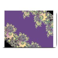 Purple Symbolic Fractal Large Door Mat