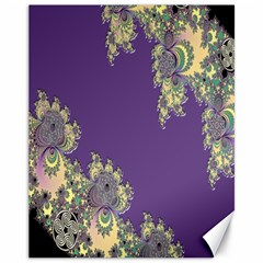 Purple Symbolic Fractal Canvas 11  x 14  (Unframed)